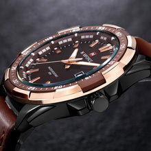 Load image into Gallery viewer, Advance Men's Military Brown or Black Leather Watch - Case