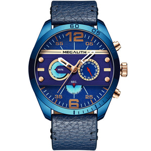 Vazen Men's Chronograph Fashion Quartz Watch - Blue