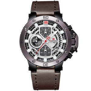 Zincon Mens Chronograph Leather Watch - Brown