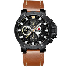 Load image into Gallery viewer, Zincon Mens Chronograph Leather Watch - Black