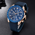 TAZERO CHRONOGRAPH SILICONE WRIST WATCH FOR MEN