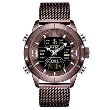 Load image into Gallery viewer, Front image Zonevo Stainless Steel Wrist Watch with coffee dial in white background