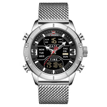 Load image into Gallery viewer, Front image Zonevo Stainless Steel Wrist Watch with silver dial in white background