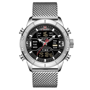 Zonevo Stainless Steel Wrist Watch