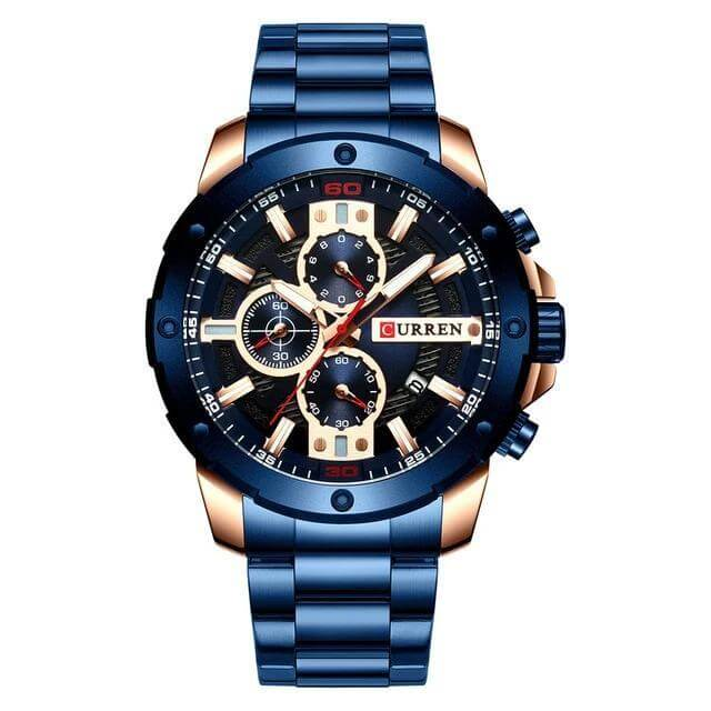riveral stainless steel bracelet watch blue color