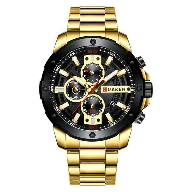 riveral stainless steel bracelet watch gold color