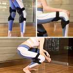 women wear the Power Knee Stabilizer Pads