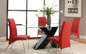 Mensa Red 5-Piece Dining Room Set