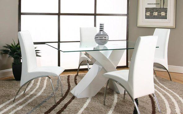 White 5-Piece Dining Room Set