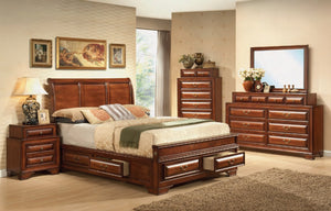 Baron King Storage Bed w/Dresser, Mirror & 1 Nightst