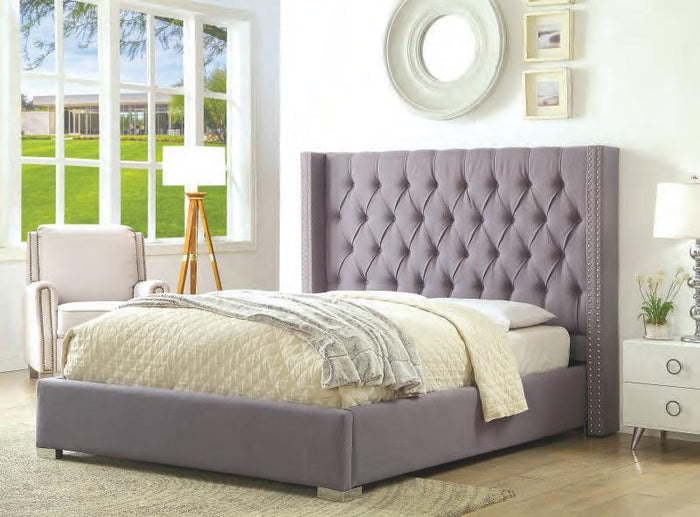 Foray Gray King Upholstered Bed