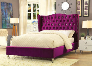 Violetta Velvet King Upholstered Bed