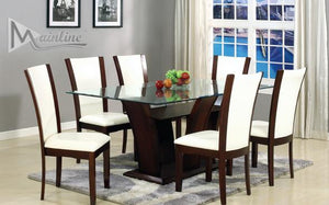 Enclave White Rectangular Table & 6 Chairs