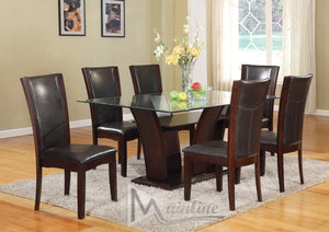 Enclave Espresso Rectangular Table & 6 Chairs