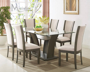 Enclave Gray Rectangular Table & 4 Chairs