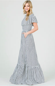 The Carrie ruffled maxi dress