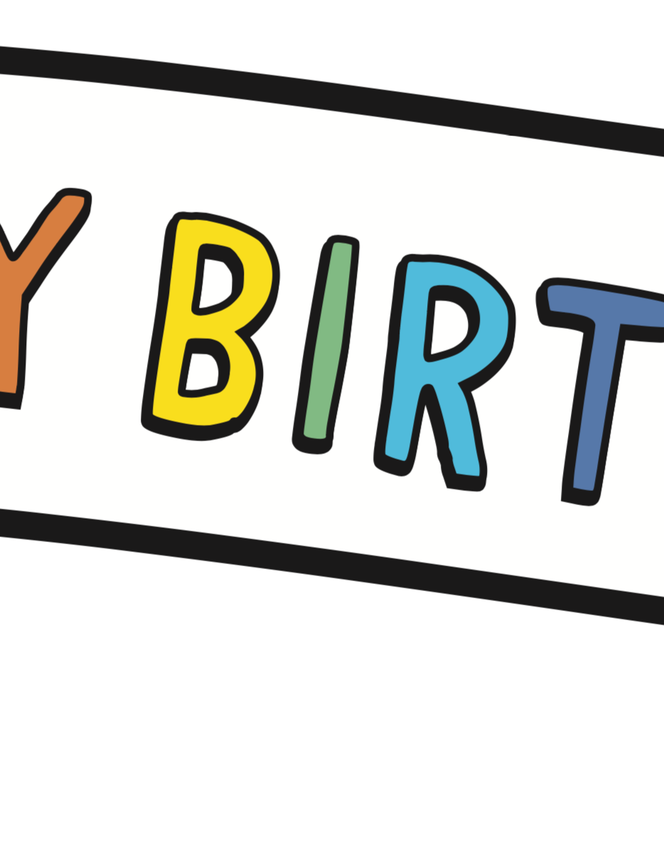 RAINBOW BIRTHDAY BANNER- Pdf Printable