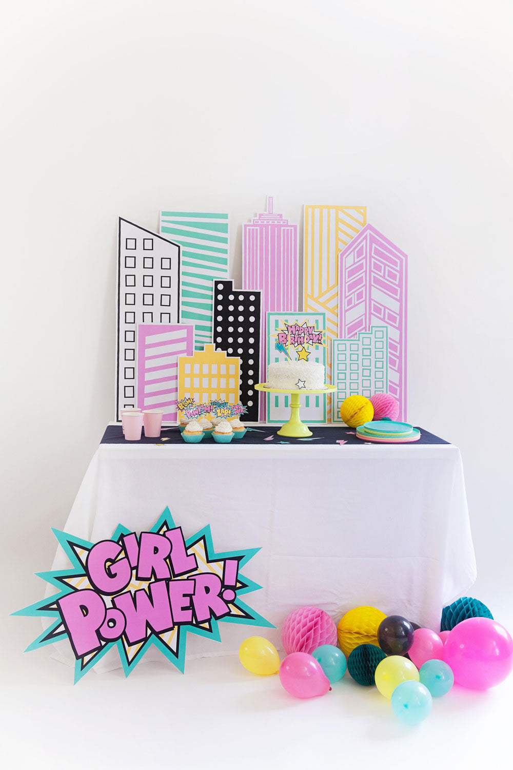 SUPER GIRL PARTY PACK - pdf printable