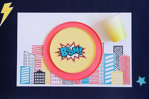 SUPER HERO PLACEMATS - pdf printable