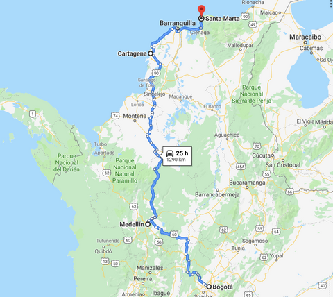 colombia itinerary ten days