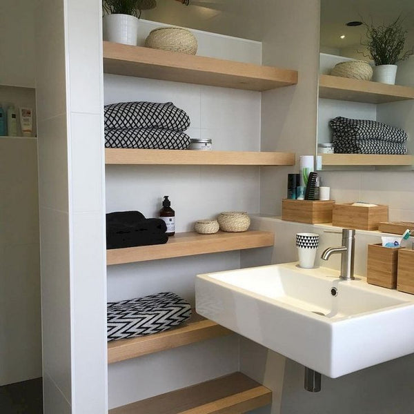 Home Decorating Ideas Bathroom 25+ Rustic Bathroom Shelves Storage Ideas #bathroom #bathroomshelves #bathroomst…