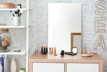 Load image into Gallery viewer, Select nice frameless rectangular wall mirror 24 w x 36 h large beveled edge glass panel hangs horizontal vertical for vanity bathroom bedroom gym free perfume tray with every purchase 24 x 36