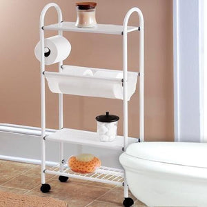 Slim Rolling Bathroom Organizer
