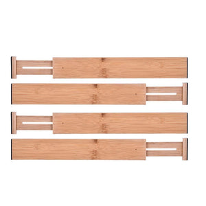Online shopping lebeauty drawer dividers bamboo kitchen organizers spring adjustable expendable best for kitchen dresser bedroom baby drawer bathroom and desk beige set of 4