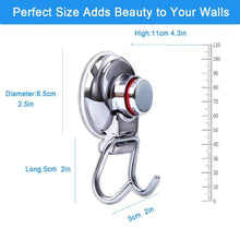 Load image into Gallery viewer, On amazon suction cup hooks heavy duty vacuum hook wall suction hooks for flat smooth wall bathroom kitchen towel robe loofah stainless steel chrome pack of 3
