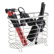 Load image into Gallery viewer, Select nice mdesign metal wire hair care styling tool organizer holder basket bathroom vanity countertop storage for hair dryer flat irons curling wands hair straighteners brushed