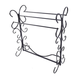 Storage homerecommend free standing towel rack 3 bars drying rack metal organizer for bath hand towels outdoor beach towels washcloths laundry rooms balconies bathroom accessories