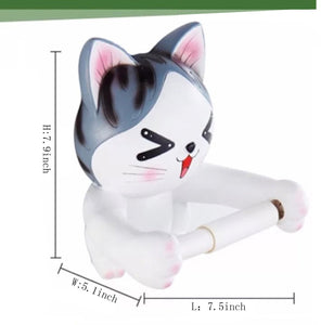 Explore c s toilet paper holder dispenser tissue roll towel holder stand funny animal wall mount bathroom kitchen home decor cat