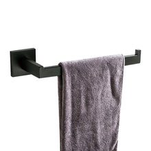 Load image into Gallery viewer, Kitchen leyden modern 4 pieces bathroom sets robe hook towel bar toilet paper holder towel ring bathroom hardware accessory matte black