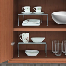 Load image into Gallery viewer, Shop sorbus pantry cabinet organizers features stackable expandable shelves made of steel ideal for pantry cabinet countertop and much more in kitchen bathroom silver