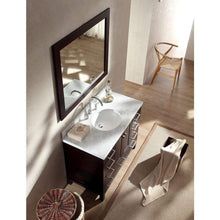 Load image into Gallery viewer, Purchase ariel cambridge a043s esp 43 single sink solid wood bathroom vanity set in espresso with white carrara marble countertop