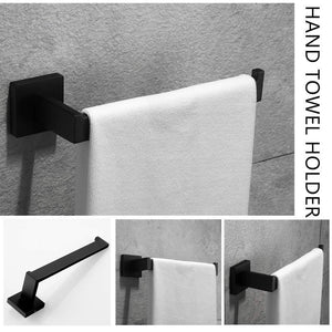 Heavy duty velimax premium stainless steel bathroom hardware set black 4 pieces bathroom hardware accessories set wall mounted towel bar towel holder hook toilet paper holder matte black