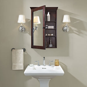 Featured crosley furniture lydia mirrored bathroom wall cabinet espresso