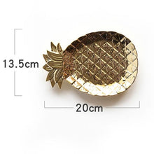 Load image into Gallery viewer, Nordic Chic Ceramic Jewelry Vanity Trays Pineapple Trinket Dish Bathroom Organizer Girls Women Bridesmaid Gifts Nordic Style Gold Home Decor