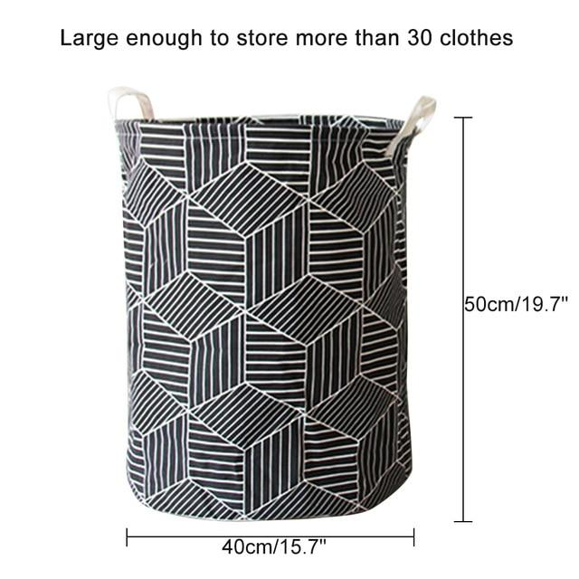 Art Folding Geometry Dirty Clothes Toys Storage Laundry Basket