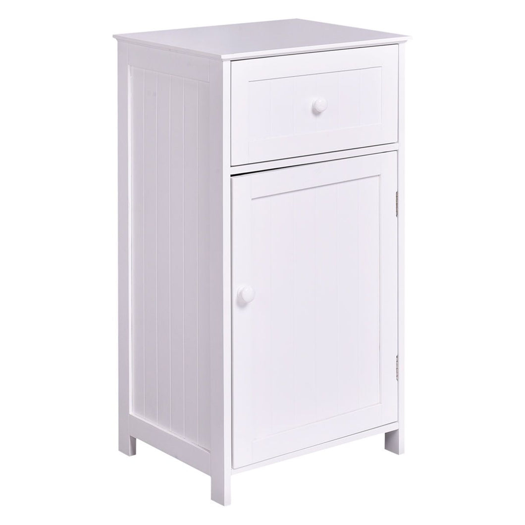White Storage Cabinet Bathroom Organizer