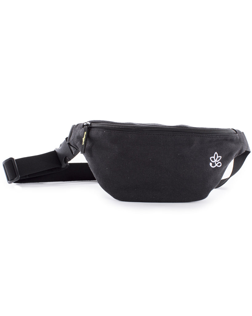 Hemp Hip Bag Black/White - Banano Orgánico