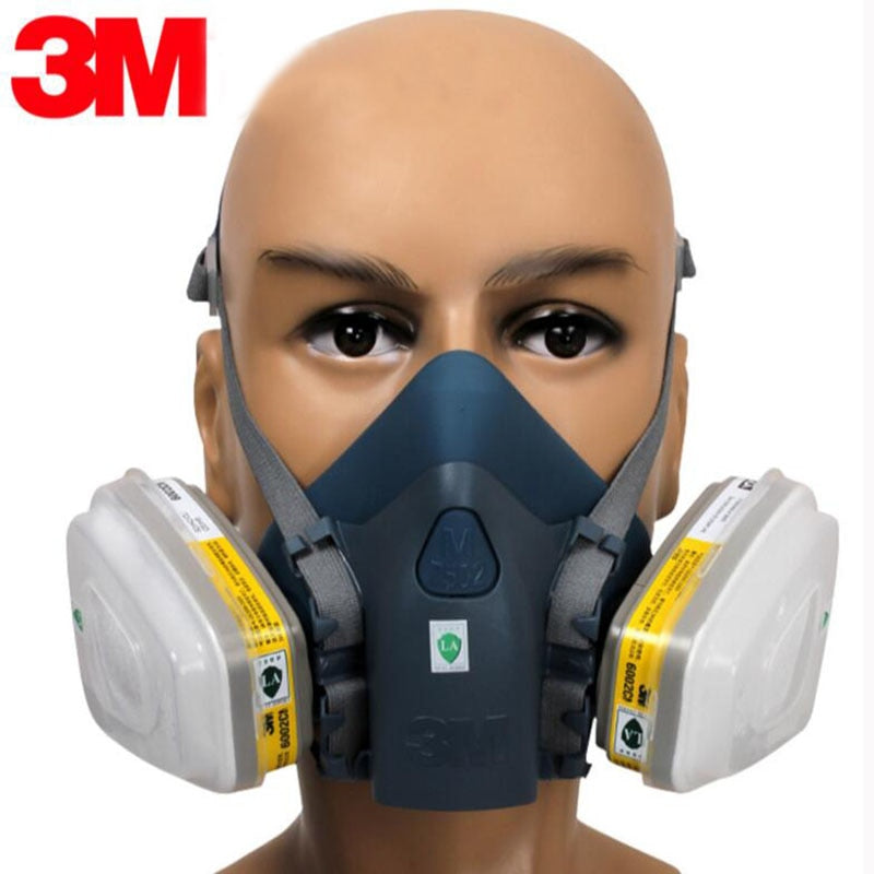 3M 7502 17 En 1 masque respiratoire, masque a gaz,masque anti pollution
