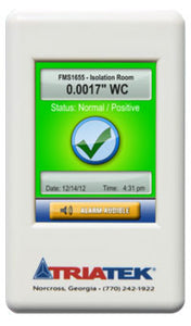 Triatek FMS-1655 LITE Single Room Pressure Monitor