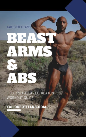 Beast Arms & Abs Cover - IFBB Pro Hallart D. Keaton