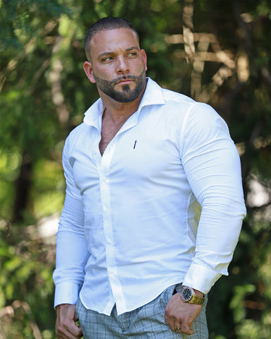 Steve Tavarez - The Dragon Shirt Bodybuilding Wedding Attire