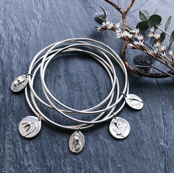 FIVE CHARM - Bangle Stack - Flower & Fable