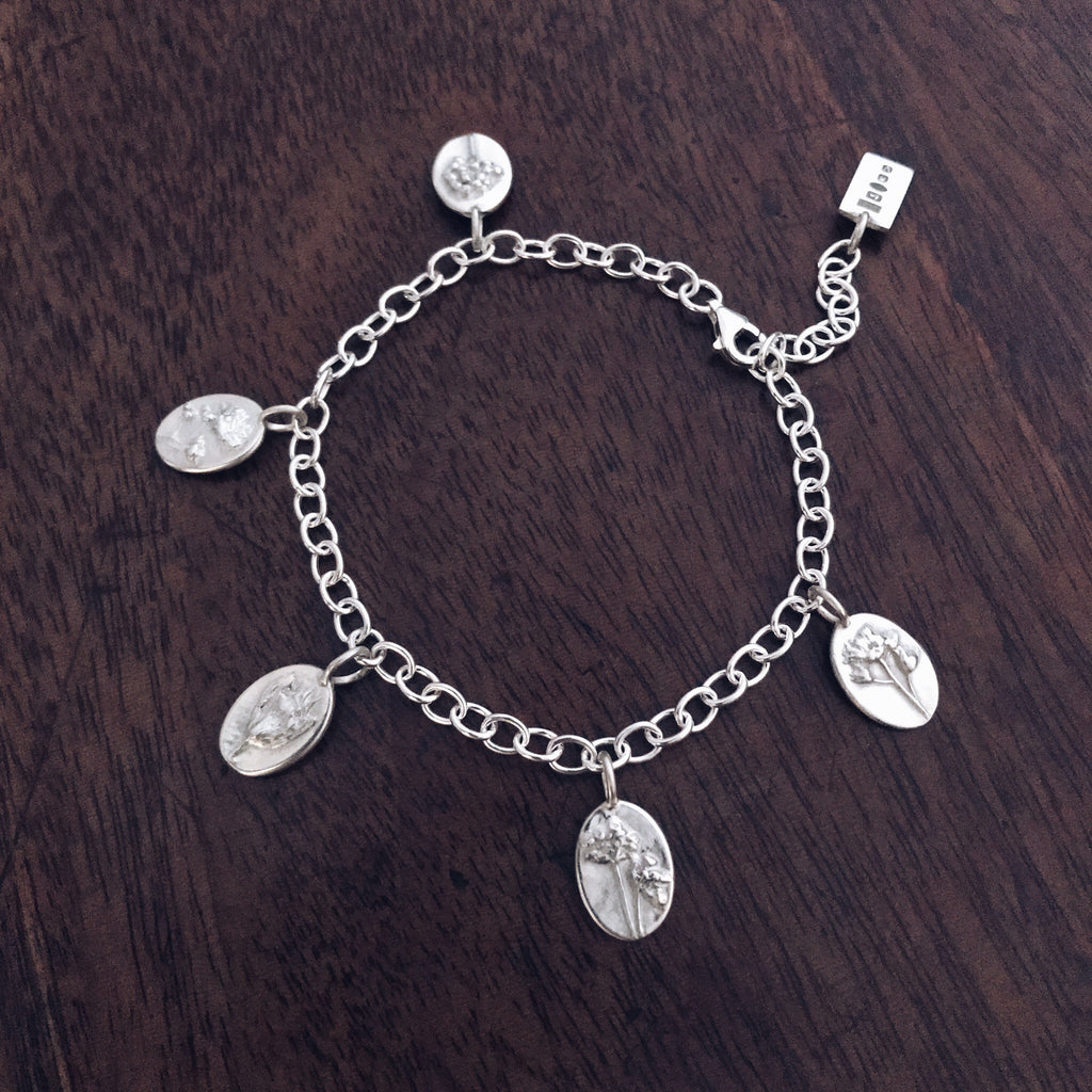 Sterling Silver Charm Bracelet - For Love