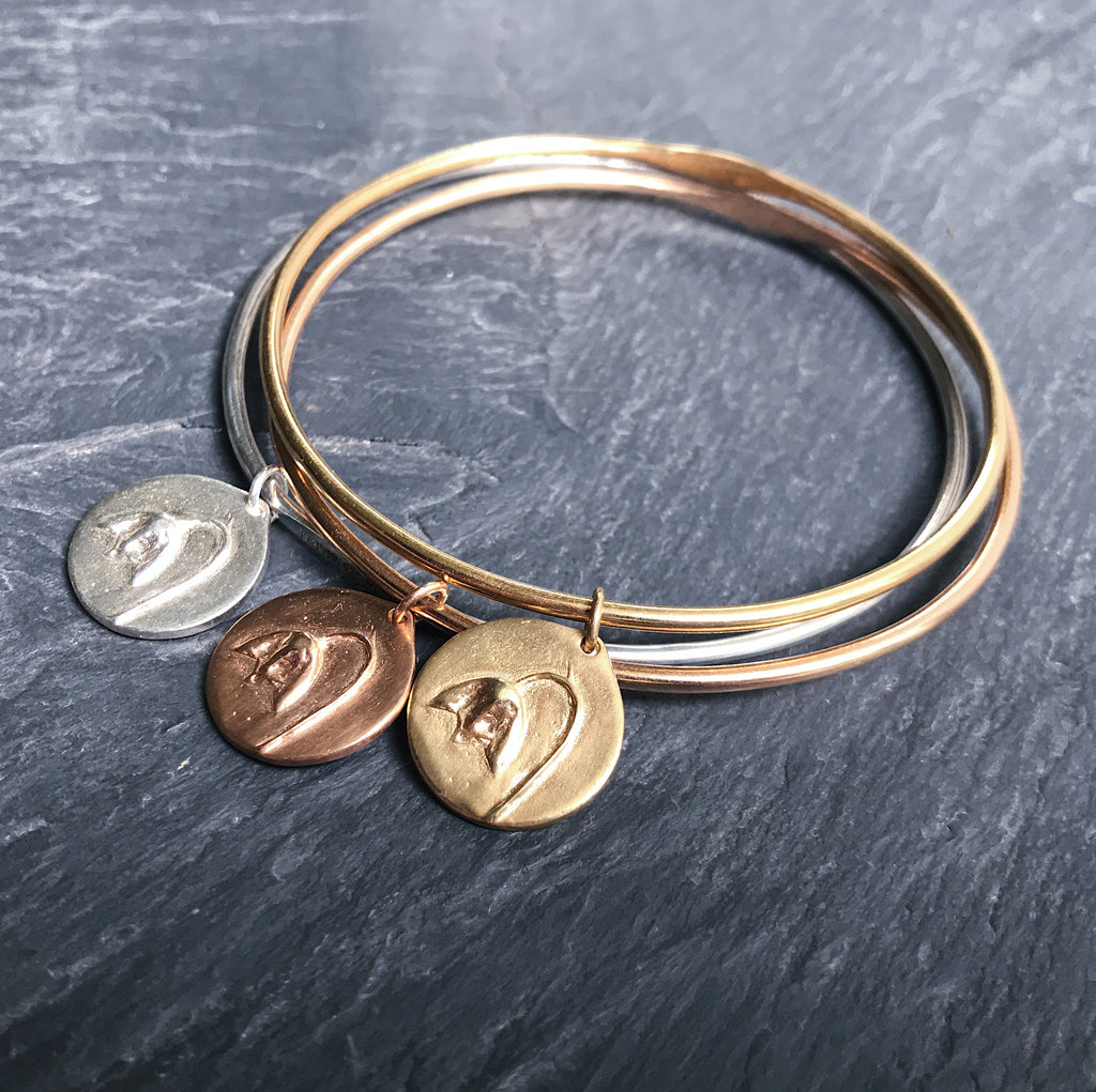 THREE CHARM - Bangle Stack - Flower & Fable