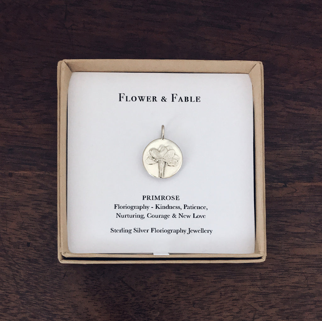 Primrose Sterling Silver Charm - Flower & Fable