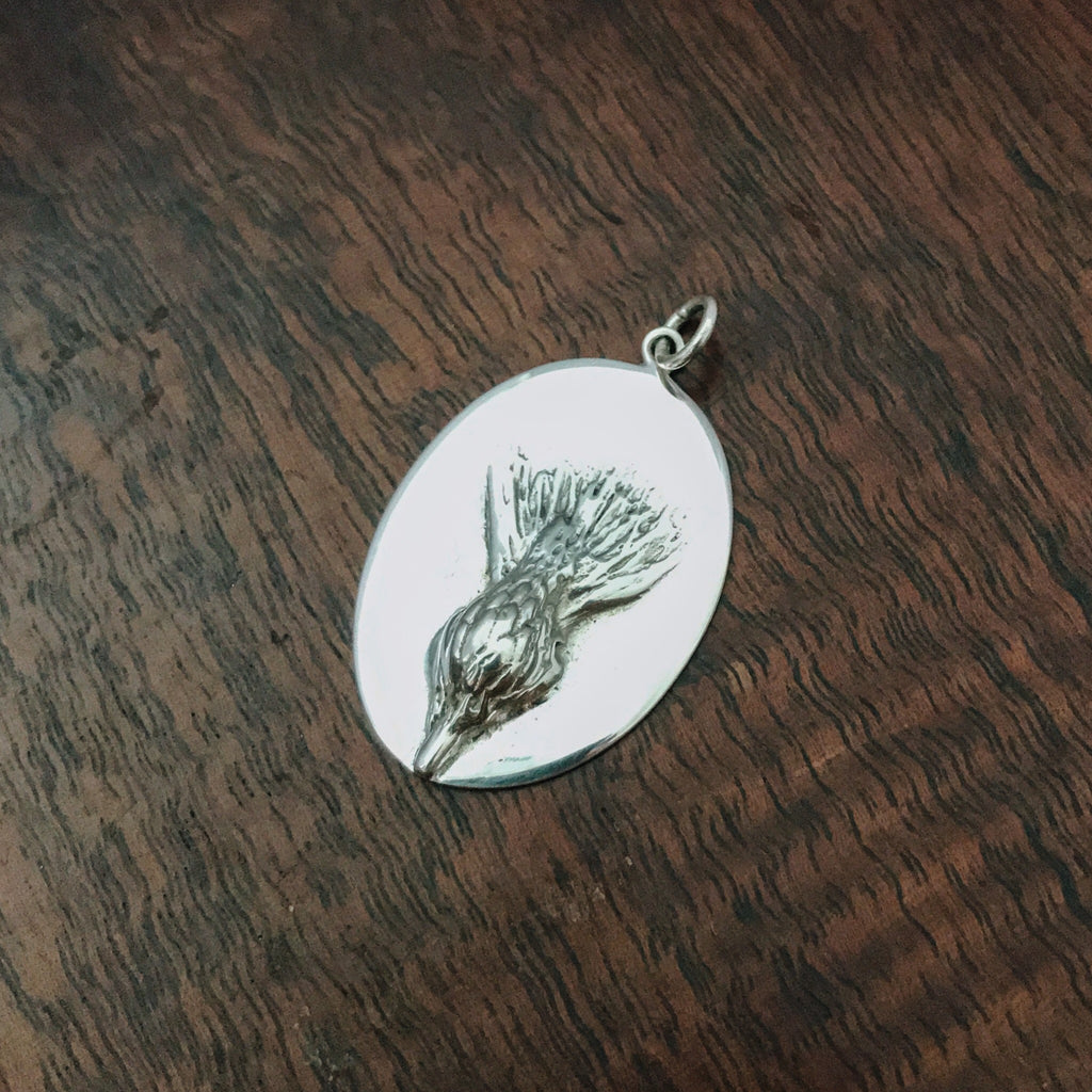Thistle - Sterling Silver Pendant
